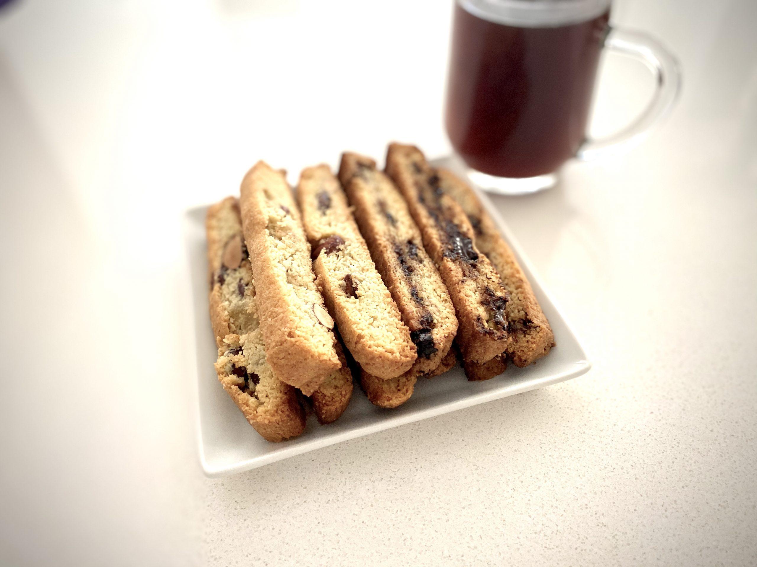 Keto Biscotti Cookies - Almond Chocolate Biscotti