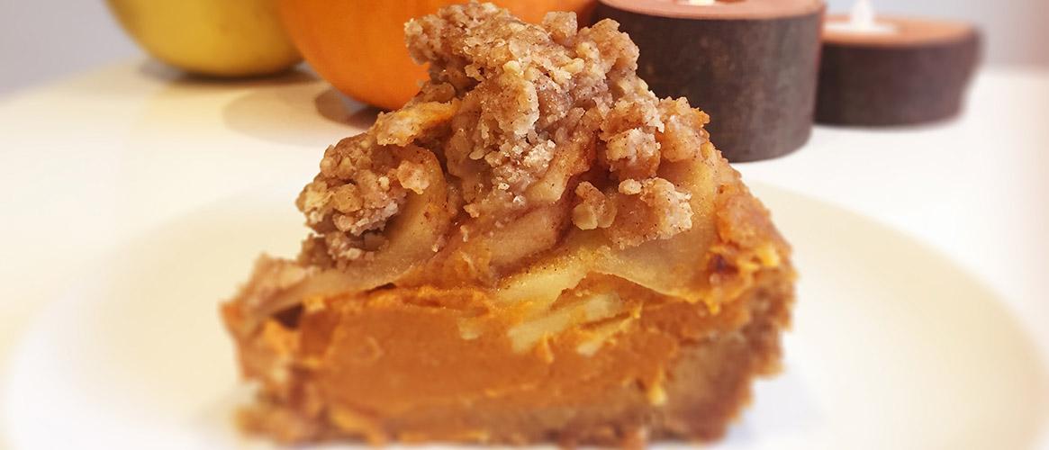 Apple Cinnamon Crumble Pumpkin Pie