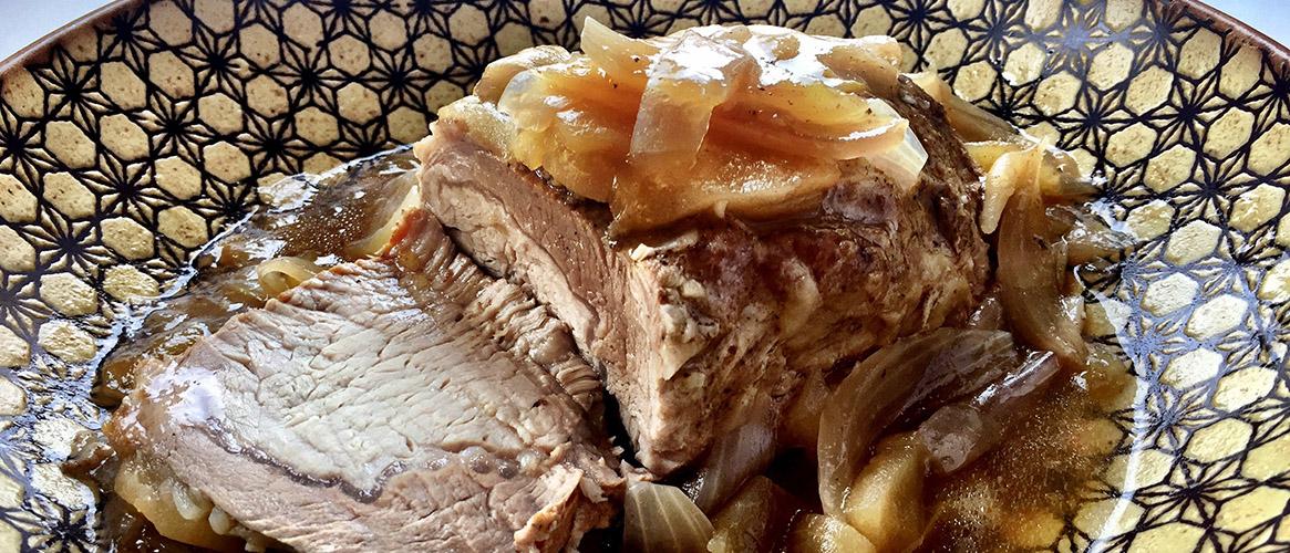 Apple Maple Balsamic Pork Roast