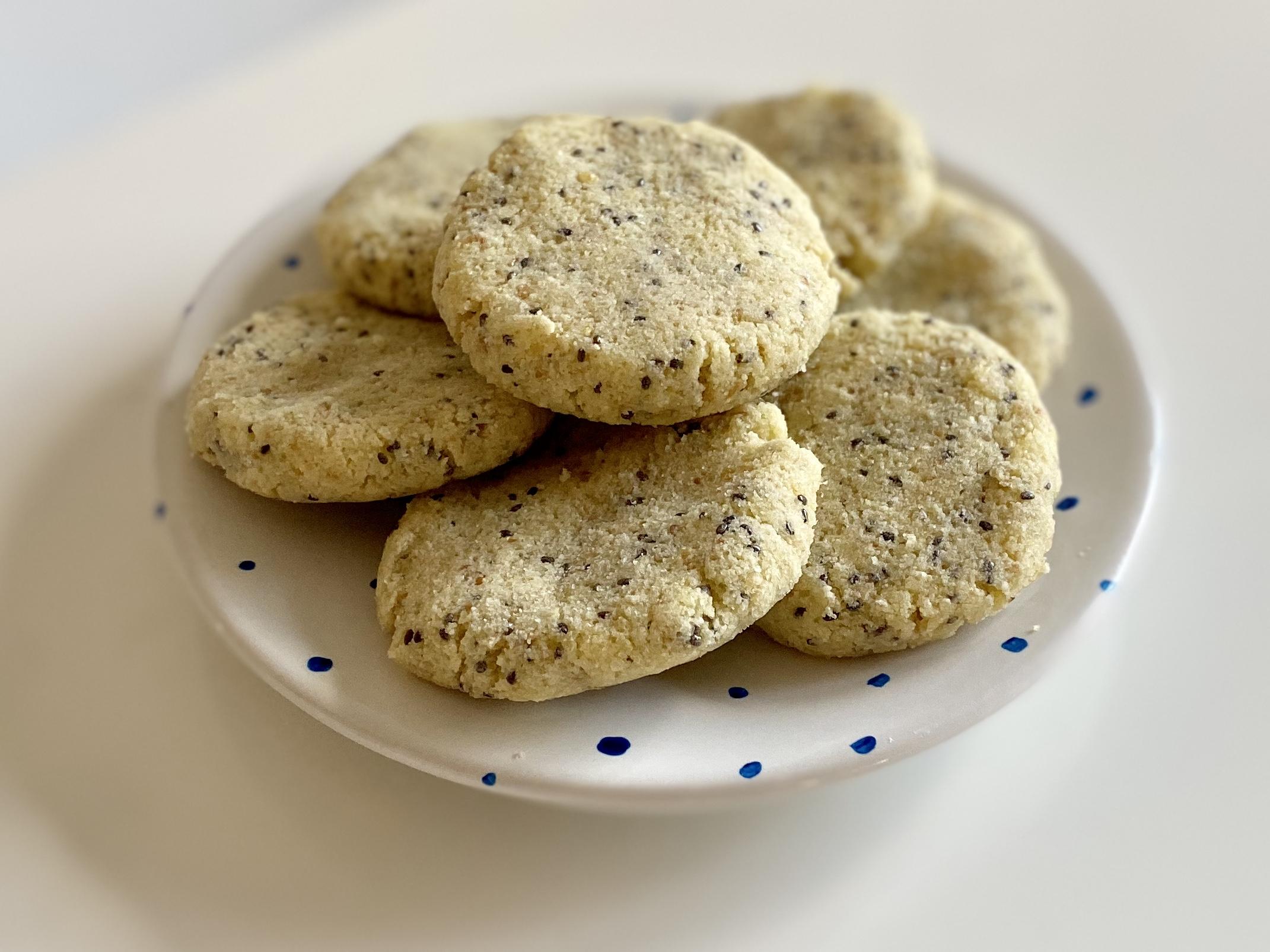 Keto Shortbread Cookies - Lemon Chia Seed Shortbread