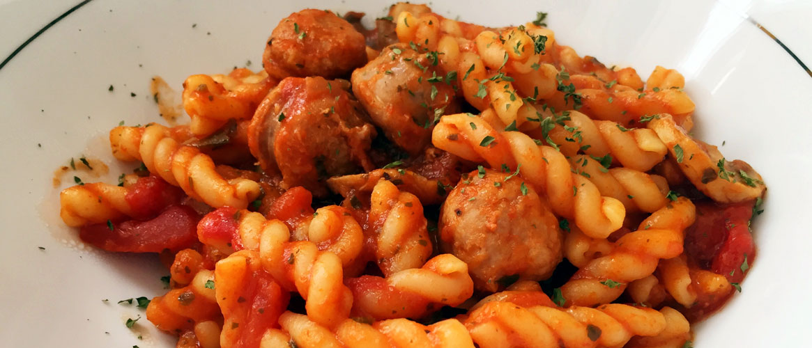 Tomato Sauce Pasta with Sausages